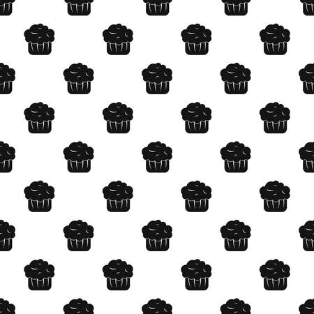 fairy: Cupcake pattern seamless in simple style vector illustration