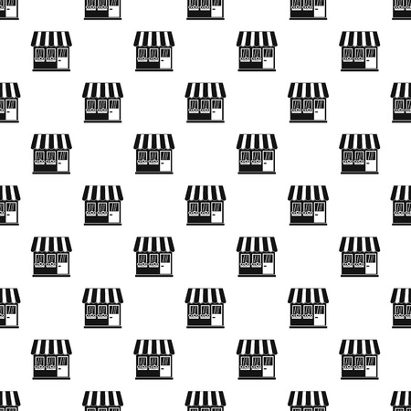 simple store: Store pattern seamless in simple style vector illustration Illustration