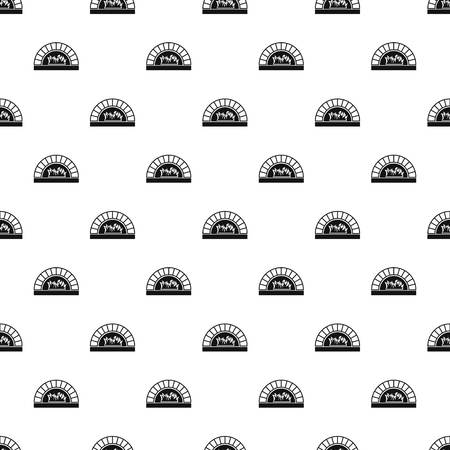 Pizza oven with fire pattern seamless in simple style vector illustration Illustration