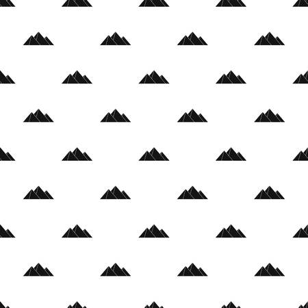Pyramids pattern seamless in simple style vector illustration