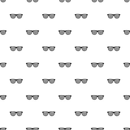 Black pinhole glasses pattern seamless in simple style vector illustration Illustration