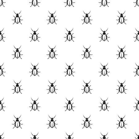 coleoptera: Beetle pattern seamless in simple style vector illustration
