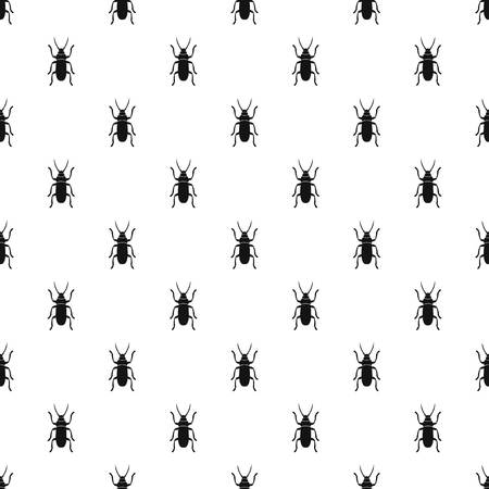 Beetle bug pattern seamless in simple style vector illustration
