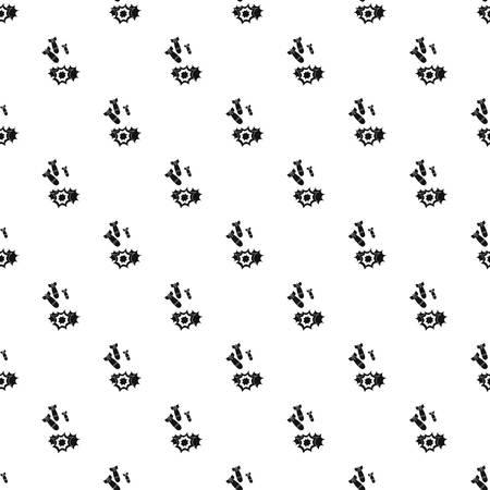atomic bomb: Bomb pattern seamless in simple style vector illustration Illustration