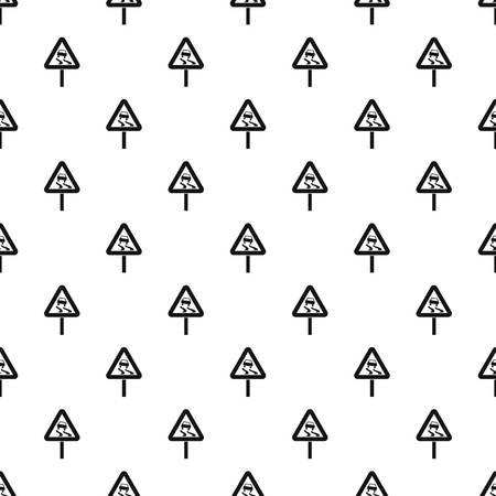 滑りやすいときぬれた道路記号パターンのシンプルなスタイルのベクトル図にシームレスです