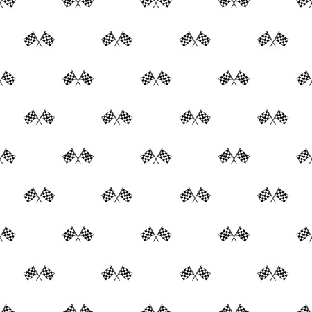 dragster: Checkered racing flags pattern seamless in simple style vector illustration