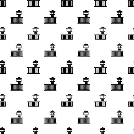incarceration: Prison tower pattern seamless in simple style vector illustration