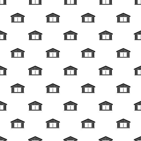 auto service: Garage pattern seamless in simple style vector illustration Illustration