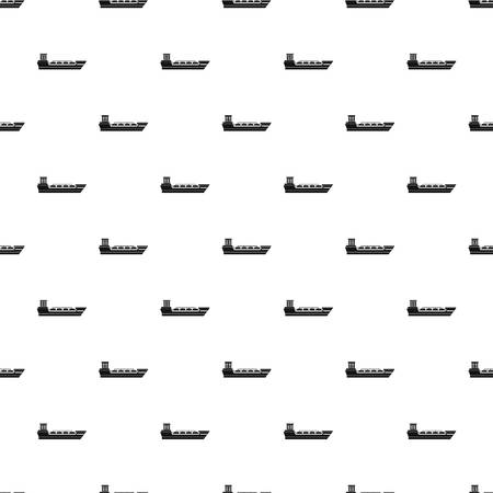 Oil tanker ship pattern seamless in simple style vector illustration