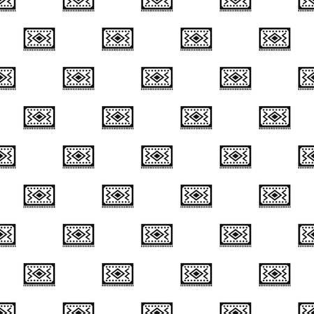 oriental rug: Turkish carpet pattern vector Illustration