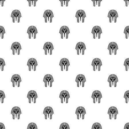 tutankhamen: Tutankhamen mask pattern vector Illustration