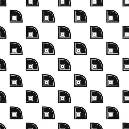 mounds: Baseball field pattern vector Illustration