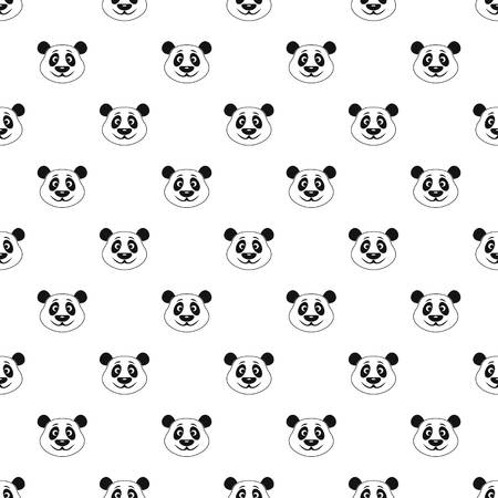 endanger: Panda pattern seamless in simple style vector illustration