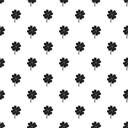 patric day: Clover leaf pattern seamless in simple style vector illustration Illustration