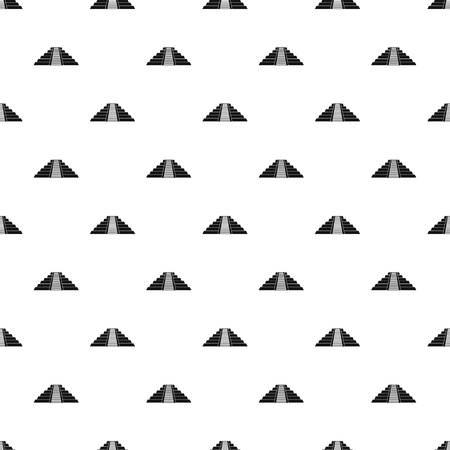 Ziggurat in Chichen Itza, Yucatan pattern seamless in simple style vector illustration