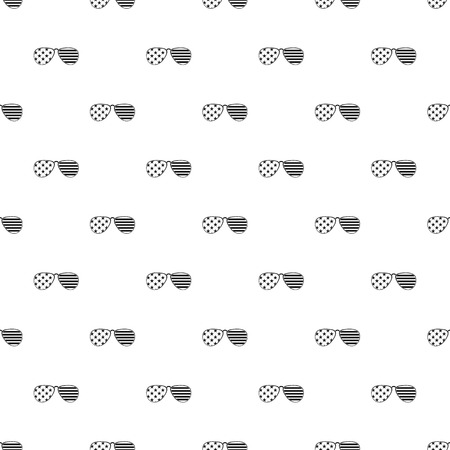 American glasses pattern seamless in simple style vector illustration Illustration