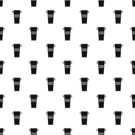 Trash can with handles pattern seamless in simple style vector illustration