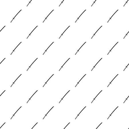 Japanese katana pattern seamless in simple style vector illustration