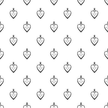platinum: Heart shaped pendant pattern seamless in simple style vector illustration Illustration