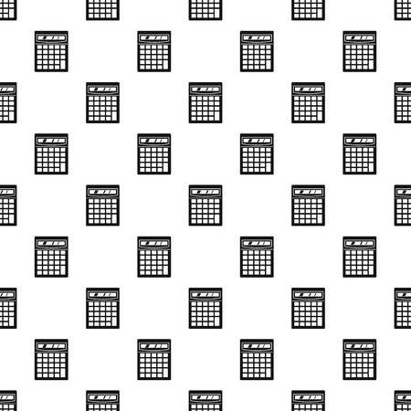 addition: Electronic calculator pattern seamless in simple style vector illustration