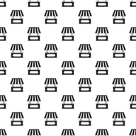 Street kiosk pattern seamless in simple style vector illustration
