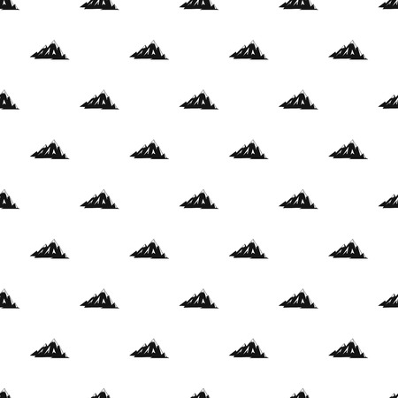 Canadian mountains pattern seamless in simple style vector illustration Illustration