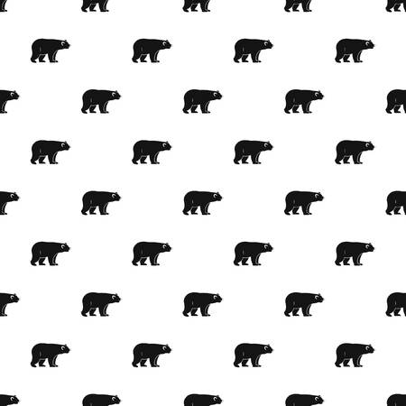 colorado rocky mountains: Wild bear pattern seamless in simple style vector illustration