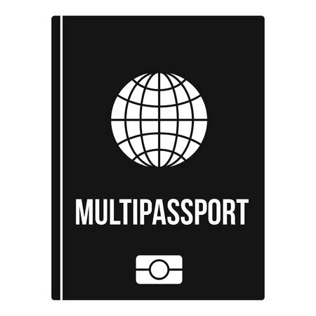 Multipassport icon. Simple illustration of multipassport vector icon for web