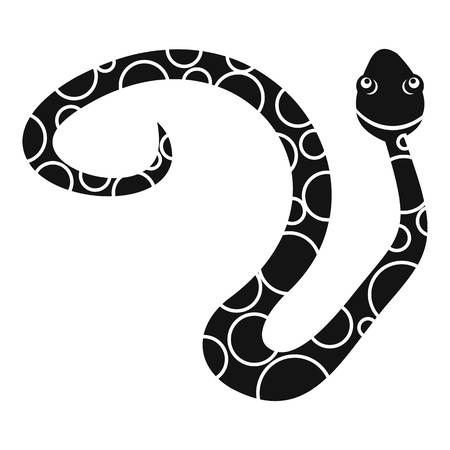Spotted snake icon. Simple illustration of spotted snake vector icon for web Stock Illustratie