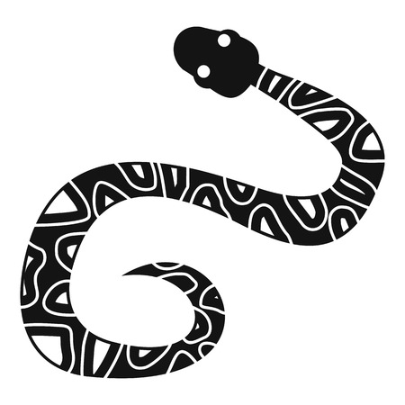 Snake icon. Simple illustration of snake vector icon for web Illustration