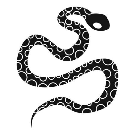 poison: Python snake icon. Simple illustration of python snake vector icon for web