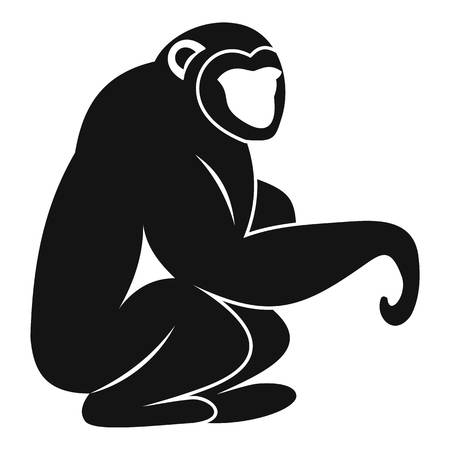 Monkey sitting icon. Simple illustration of monkey sitting vector icon for web