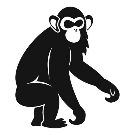 Macaque icon. Simple illustration of macaque vector icon for web Illustration