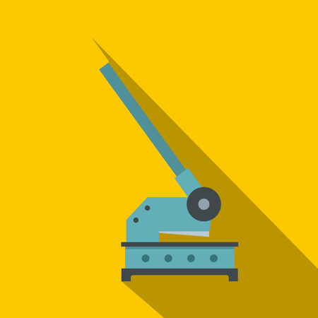 Cutting machine icon. Flat illustration of cutting machine vector icon for web on yellow background
