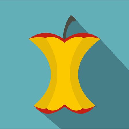 Icône de souche de pomme. Illustration plate de l'icône du vecteur de souche de pomme pour le Web sur fond bleu bébé Banque d'images - 76610601