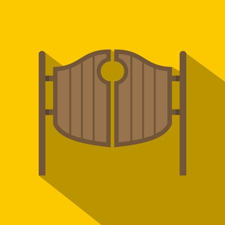 ortseingangsschild: Vintage Western Swinging Saloon Türen Symbol