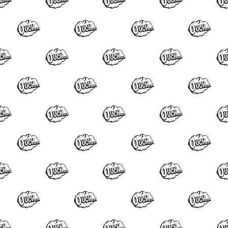 ouch: Ouch, speech cloud pattern vector Illustration