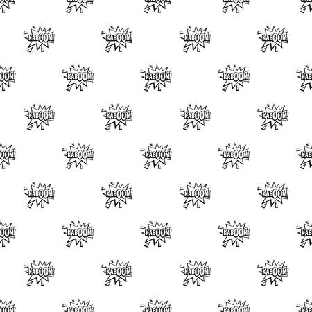 Kaboom, explosion pattern seamless in simple style vector illustration