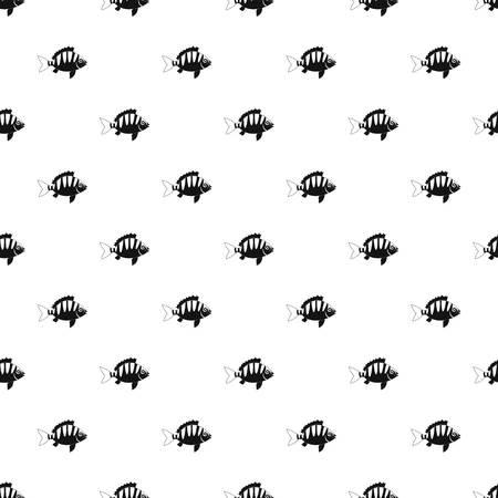 fish tail: Perch pattern vector Illustration