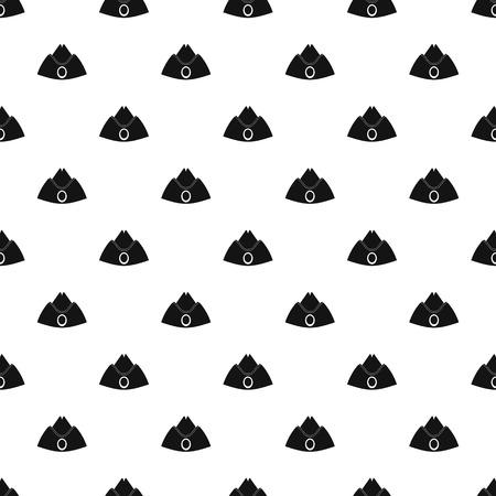Forage cap pattern vector Çizim