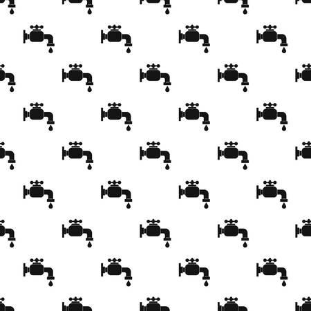 stopcock: Water tap pattern vector Illustration