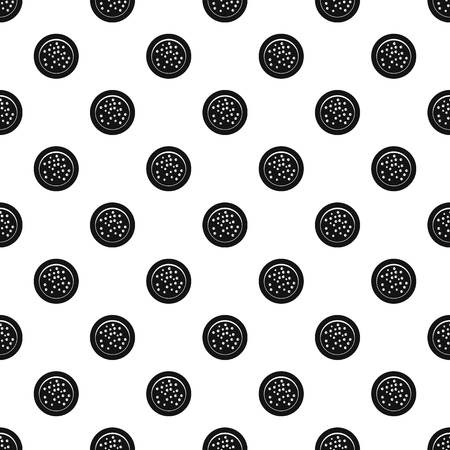 Peppercorns on a plate pattern vector Illustration