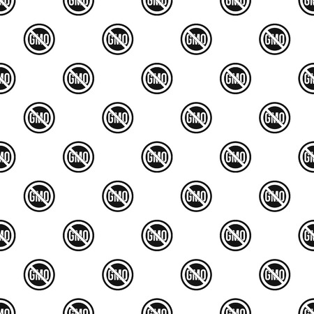 Stop GMO pattern vector Illustration