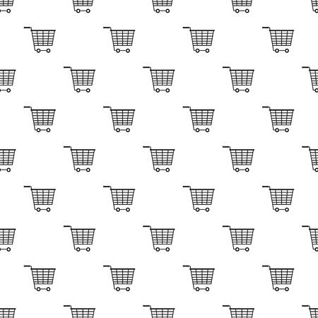 simple store: Supermarket cart with plastic handles pattern
