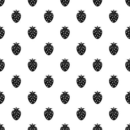One strawberry berry pattern vector