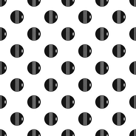 criket: Black and white cricket ball pattern vector