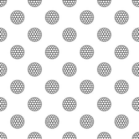 dimple: Black and white golf ball pattern vector Illustration