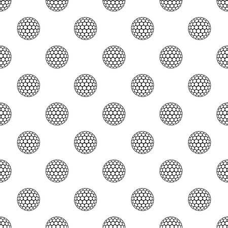 Black and white golf ball pattern vector Illustration