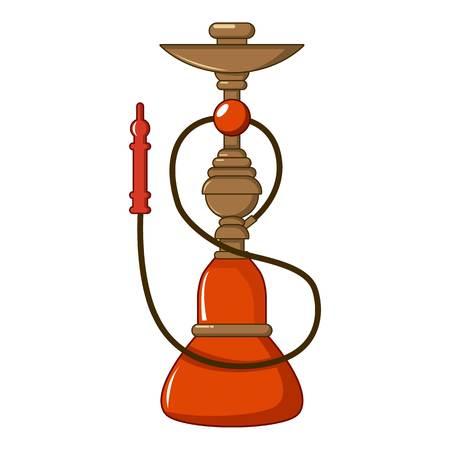 Turkish hookah icon, cartoon style Illustration