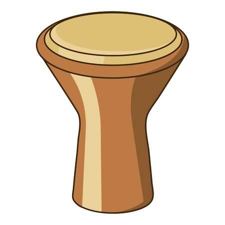 Darbuka percussive musical instrument icon